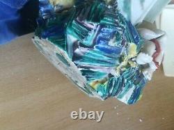 26.3 Grand Porcelaine Chinoise De Grande Taille Guan Yin Avec Statue Figurine Enfant 7kg