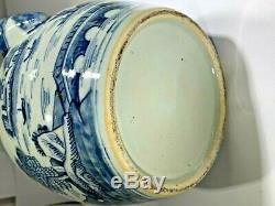 Antique 19ème Siècle Grand Petit Pot Canton Spout Thé En Porcelaine