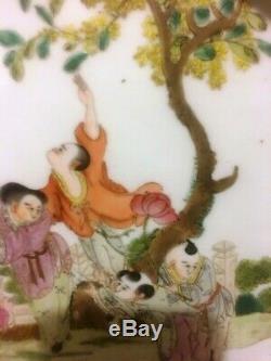 Antique Belle Grande Famille Chinoise Rose Porcelaine Plateau