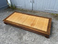 Antique Chinese Hardwood Asian Opium Bed Ou Table Rattan Top Grand Exemple