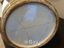 Antique Chinois Grand Impressionnant Bleu Et Blanc Porcelaine Décorée Vase