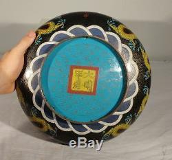 Antique Chinois Grand Narcissus Bowl Du Dragon Bowl Règne Ming Mark