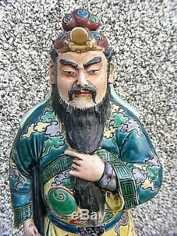 Antique Chinois Immortal Porcelaine Figure Shou Lao Grand