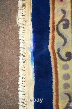 Antique Grand Chinois Aubusson Rug Bleu & Crème 12 X 9