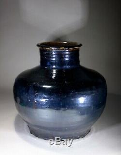 Antique Grand Ware Noir Chinois Cizhou Jar Dynastie Song