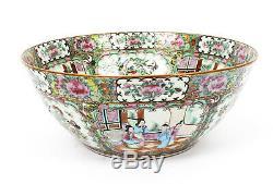 Antique Grande Chine Export Canton-famille Rose Bowl C1850 19ème Siècle