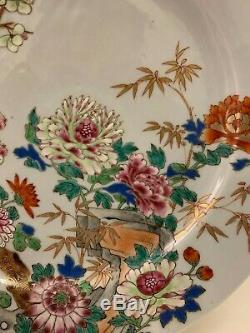 Antique Grande Famille Chinoise Rose Porcelaine Chargeur, Fin Du 18ème Siècle