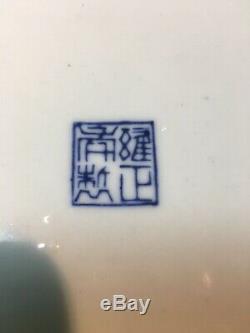 Antique / Vtg. Grande Paire De Antique Porcelaine Chinoise Planters Avec Underplates