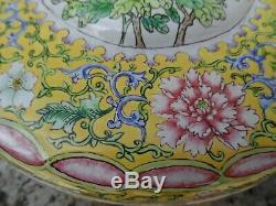 Belle Boîte D'émail Canton 18 Chinois / 19ème Siècle Grande Boîte Métallique Antique