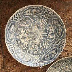 Belle Paire De Dynastie Chinoise Des Ming Swaton Shipwreck Grandes Plaques