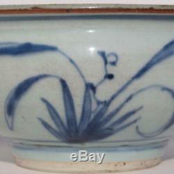 Chine Dynastie Des Ming Chinois Bleu Et Blanc Floral Fleur De Lotus Grand Bol En Porcelaine