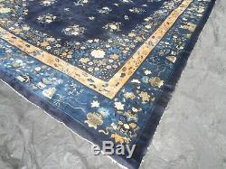 Chinese Antique Deco Tapis Grand 210 X 136 17 Ft. 11,4 Ft. Agréable