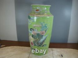 Chinois 1910 Est Agréable Grand Vase Rose Famille (zhu Xiao Shan Croc) A3257