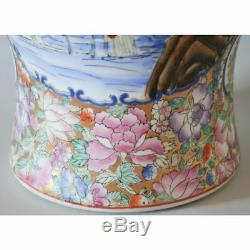 Dessous De Tampon Rouge Vase En Porcelaine De Chine Famille Rose Grand Peint À La Main