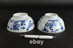 Deux Charmants Grands Bols Chinois Antiques, 18ème Siècle 14,5 CM