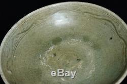 Épave Chinoise De La Dynastie Song Grand Bol En Porcelaine Céladon Au Four Yaozhou