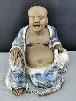 Extrêmement Rare 19th/20th Chinese Antique Shi Wan /shiwan Ware Buddha - Large