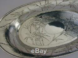 Grand 13 Inch Chinese Export Argent Massif Bol C1910 Antique 458g