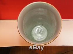 Grand 19c Rose Médaillon Oriental Pinceau Pot / Vase Famille Rose 10