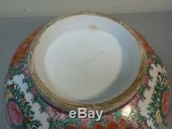 Grand 19ème C. Chinois Rose Medallion 14 Export Porcelaine Maîtresse Bowl