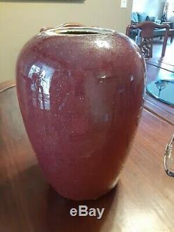 Grand 19ème Siècle Chinois Sang De Boeuf Glaze Flambe. Pot Vase # 2