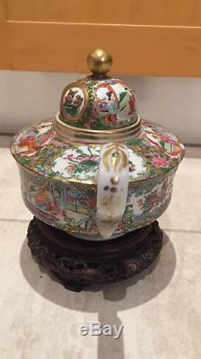 Grand 19ème Siècle Chinois Théière Mandarin