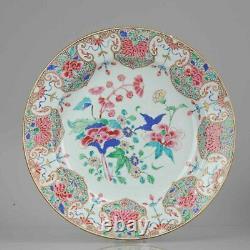 Grand 35cm 18c Yongzheng/qianlong Chinese Porcelain Famille Rose Charger