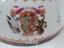 Grand Antique 18 C. Française Samson Chinoise D'exportation Punch Bowl