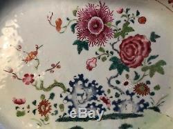 Grand Antique 18 C Qianlong Chinese Export Famille Rose Platters 38 CM 15