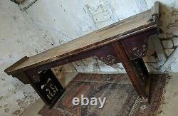 Grand Antique 19ème Siècle Autel Chinois Elm Table