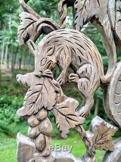 Grand Antique Bois Sculpté Maison Chinoise Bénédiction Chine Du 19ème Siècle
