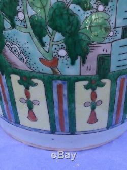 Grand Antique Famille Chinoise Rose Porcelaine Flèche Titulaire