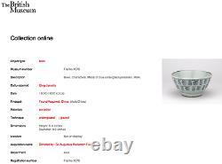 Grand Bol Chinois Antique De Shou Bowl De Porcelaine Bleue Et Blanche (mizusashi)