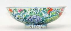Grand Bol Chinois Antique Doucai'floral' Porcelian, Jiaqing Marqué Et Période