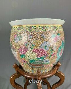 Grand Bol Chinois De Poissons De Carpe De Koi De Porcelaine