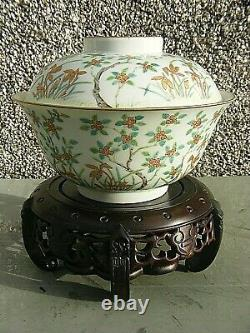 Grand Bol De Lit Chinois Antique Signé