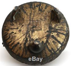 Grand Brûleur D'encens Bronze Chinois Trépied Ayant Une Marque Impériale