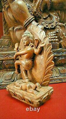 Grand Cadeau De Déesse Shiva Bali De La Statue De Bois De Ganesh Sculptée De Chine Antique