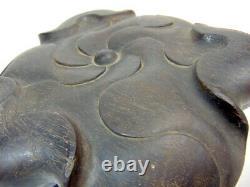 Grand Censeur De Bronze Chinois Antique, Xuande Mrk, 2,795kg, Avec Haut Stand En Bois Rare