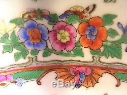 Grand Chinois Famille Chargeur Porcelaine Rose Bowl 20 C 14