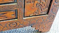 Grand Coffre De Rangement En Bois De Camphre Chinois Sculpté À La Main, Grand