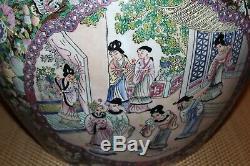 Grand Jardin Chinois Planteur Goldfish Bowl Fleurs Colorées Hommes Femmes
