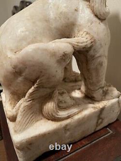 Grand Lion De Marbre De Dynastie Ming Extrêmement Rare