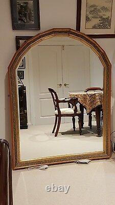 Grand Miroir Dans Le Cadre Découpé Rouge Doré/chinois. Excellent État