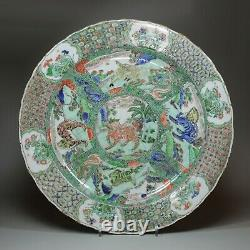 Grand Plat Chinois De La Famille Verte, Kangxi (1662-1722)