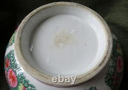 Grand Porcelaine De Vinage Porcélaine Famille Rose Punch Bowl 14