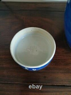 Grand Pot Chinois Bleu Et Blanc Prunus Ginger Jar. Avec L'original Lid. Qing 20cm