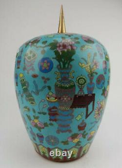 Grand Pot De Gingembre Chinois Antique De Cloisonne Au Début Du 19ème Siècle