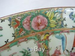 Grand Rose Chinoise Canton Famille 15 3/4 Porcelaine Punch Bowl