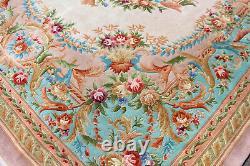 Grand Rug Aubusson Tapis Savonnerie 556 X 372 CM Pile De Laine Épaisse